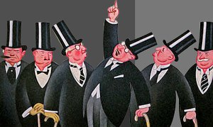 Ilustración banqueros