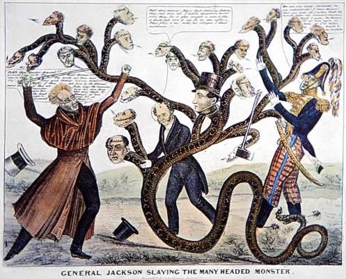 General Jackson mata al monstruo de muchas cabezas.